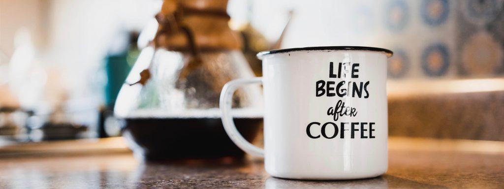 Koffiemok Life begins after Coffee